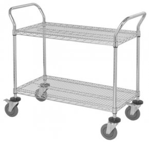 2 Wire Shelf Mobile Utility Cart