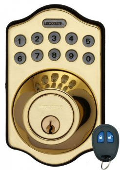 Brass Electronic Key-less Deadbolt lock 6 Users w Remote