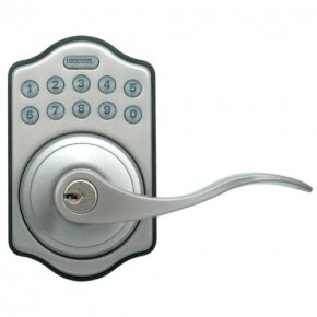 Electronic Keypad with Lever LS-L500-SN (Satin Nickel)