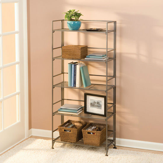 5-Tier Foldable Iron Shelving