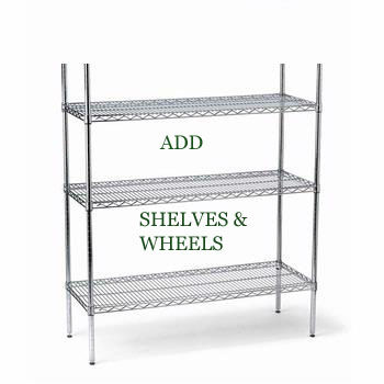 Chrome Shelf Unit 54 H x 48 W x 18 D