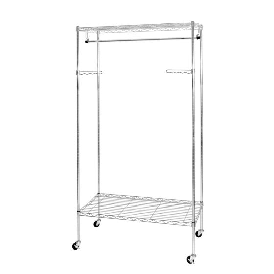 UltraZinc 2-Tier Steel Wire Garment Rack