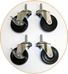 "Heavy Duty 3"" Wheels (Pack of 4 - ""screw-in"" style)"